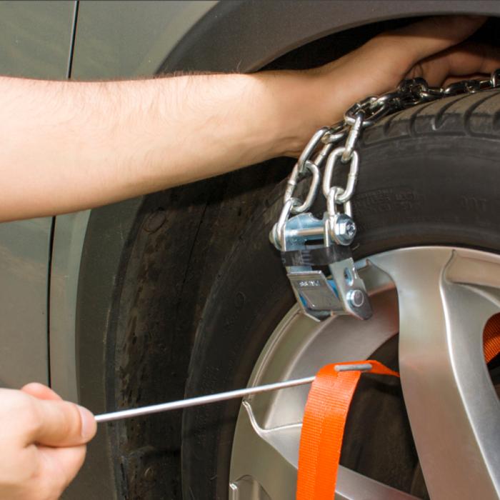 Резиновые цепи на колёса своими руками 56